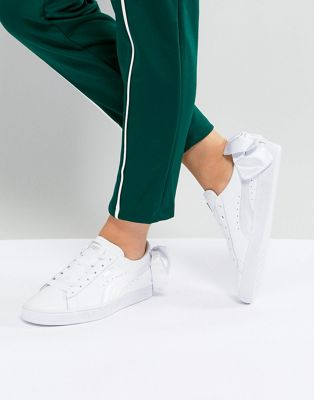 Puma Suede Bow Trainers In White