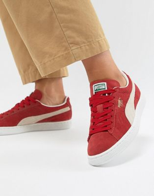 Puma Suede Classic+ Red Trainers