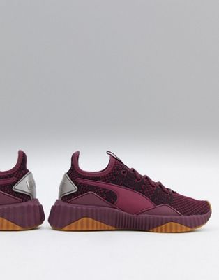 Puma Training Defy Opulence Sneakers In Burgundy