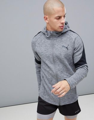 Puma Training EvoStripe Hoodie In Gray