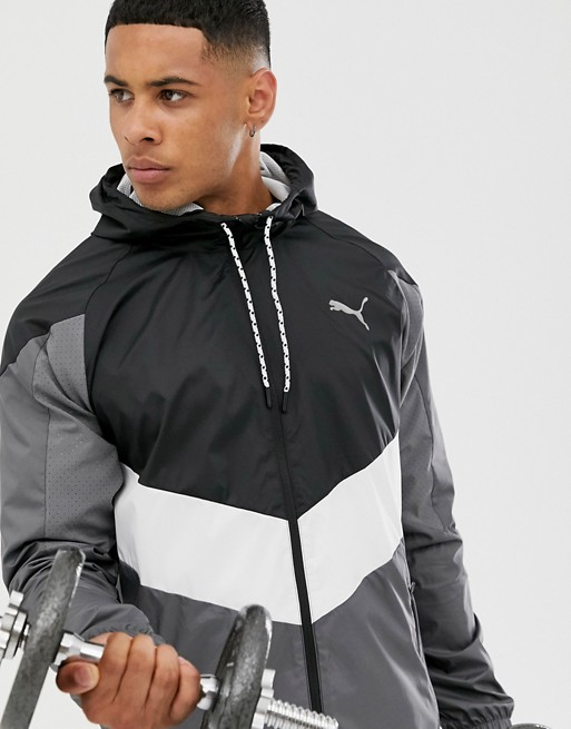 Puma Training Reactive Woven Jacket In Gray by Puma