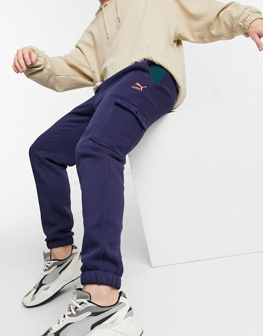 Puma - Vinter-sweatpants i marineblå-Multifarvet