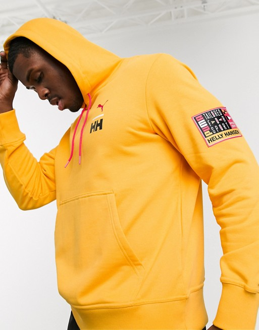 Puma x Helly Hansen hoodie in yellow