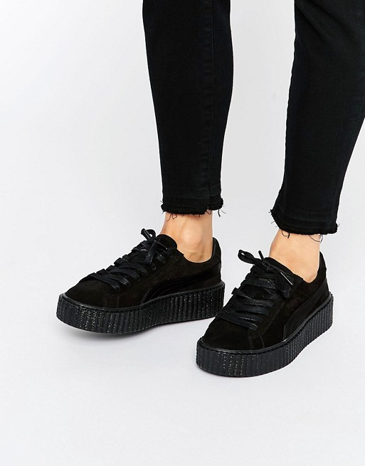 hot sale online df331 d6490 Puma X Rihanna Fenty Creeper Trainers In Black