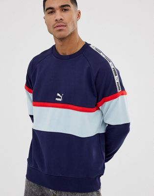 Image 1 of Puma XTG colour block sweatshirt in navy