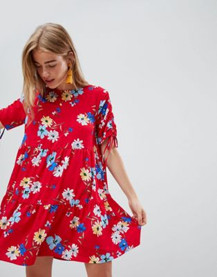 QED London Floral Print Shift Dress