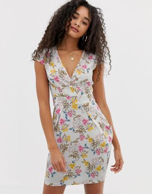 QED London floral tulip dress
