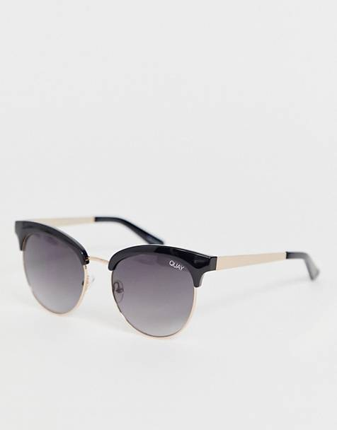 Quay Australia cherry round sunglasses in black