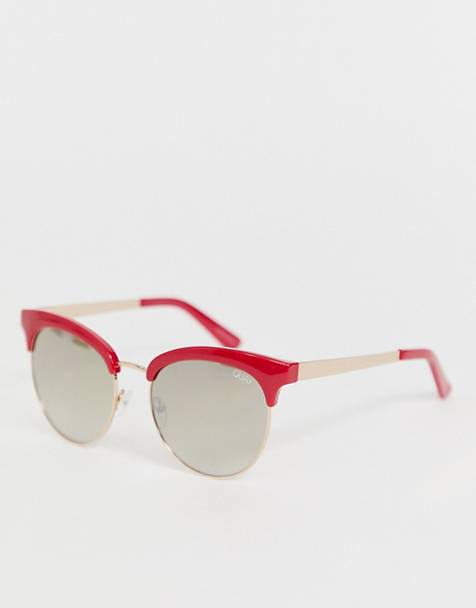 Quay Australia cherry round sunglasses in red