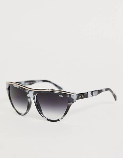 Quay Australia flight risk round sunglasses in tort
