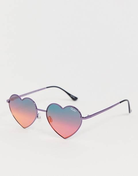 Quay Australia heart breaker sunglasses in pink