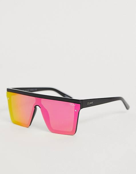 Quay Australia hindsight flatbrow sunglasses in pink