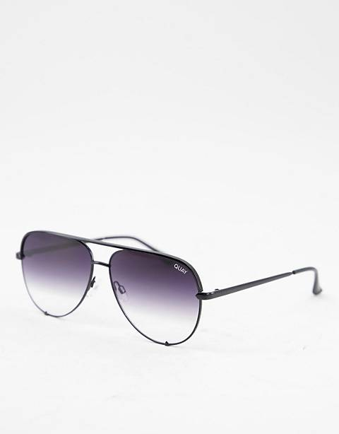 Quay Australia x Desi High Key sunglasses in black fade