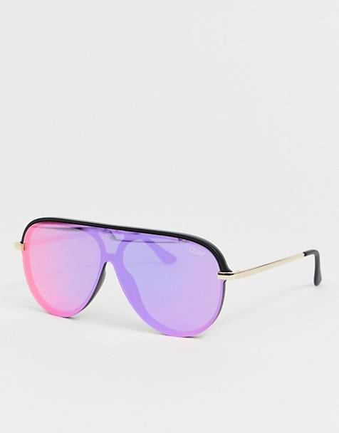 Quay Australia x J Lo empire aviator sunglasses in pink