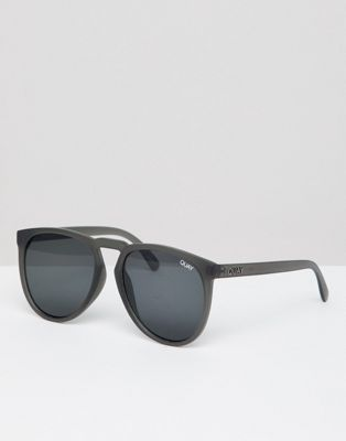 Quay Aviator Sunglasses In Gray