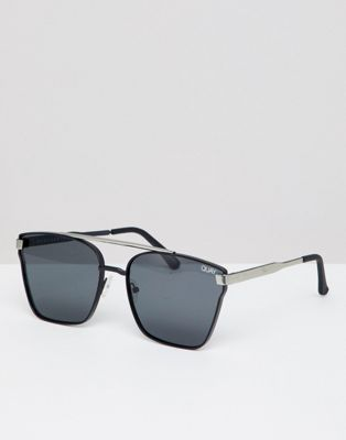 Quay Square Sunglasses In Black