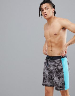 Image 1 of Quiksilver Highline Omni Arch Swim Shorts in Black