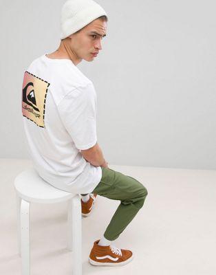 Quiksilver - Original - T-shirt classique à empiècement - Blanc
