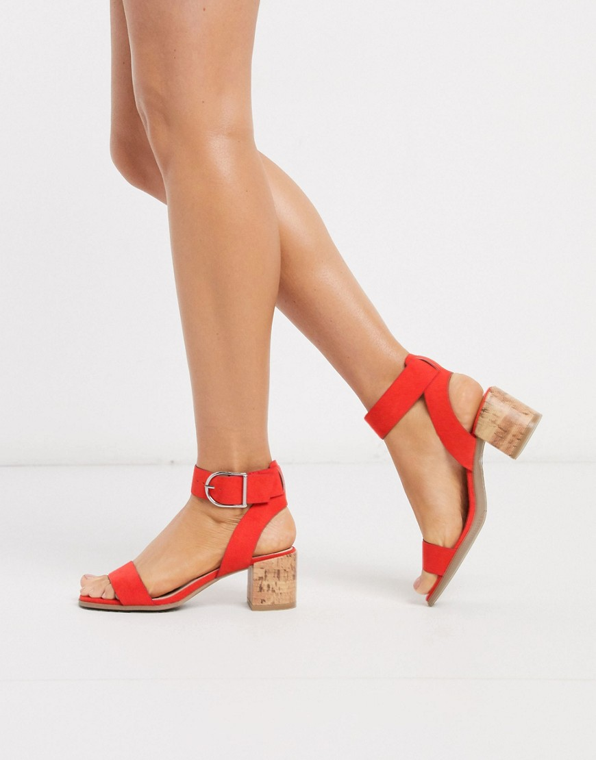 Sandals by Qupid Couple goals Ankle-strap fastening Open toe Cork-style, block heel