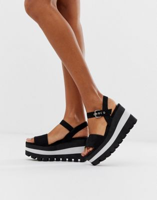 Qupid sporty flatform sandals