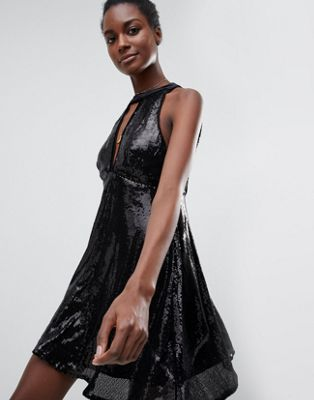 Raga After Dark Halterneck Sequin Dress