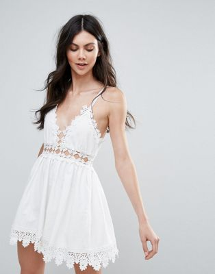 Raga Cut To It Crochet Trim Dress