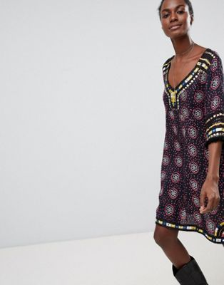 Raga Elena Printed Shift Dress