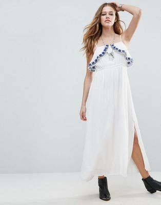 Raga Santorini Chest Frill Maxi Dress