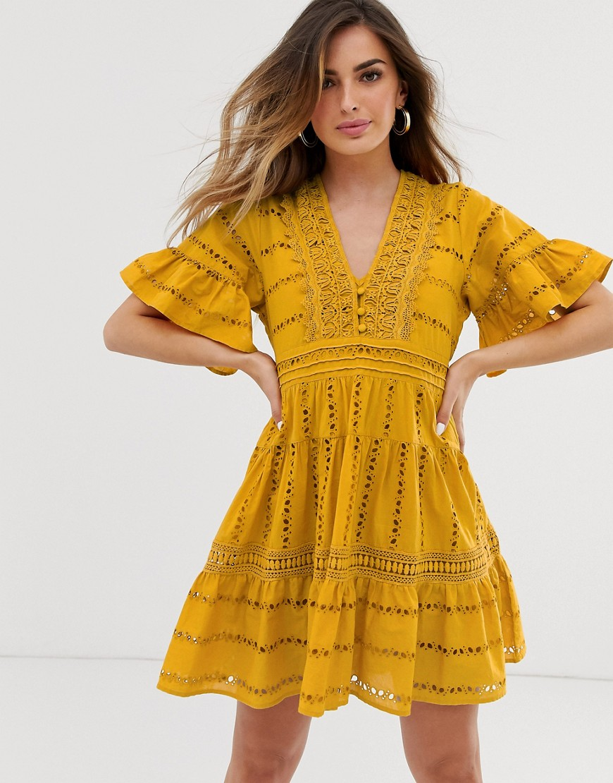 rahi paradise tunic dress-yellow