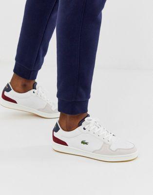 Råhvide sneakers i læder fra Lacoste Masters