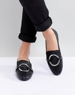 RAID - Anisha - Chaussures plates avec détail anneau - Noir
