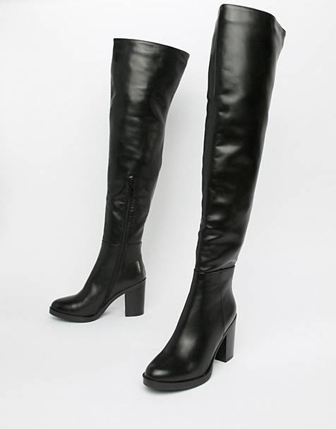 45bc3dd3886 RAID Georgia black leather look over the knee boots
