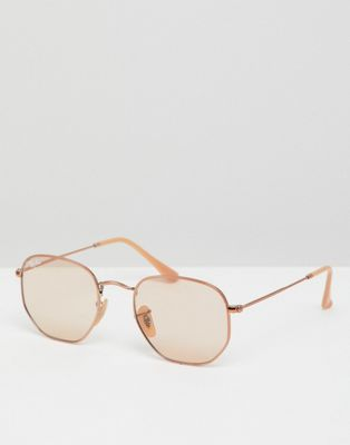 Bild 1 von Ray-Ban – 0RB3548N – Sechseckige Sonnenbrille mit abgerundetem Design