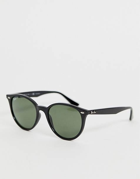 Ray-Ban 0RB4305 round sunglasses with polarized lens