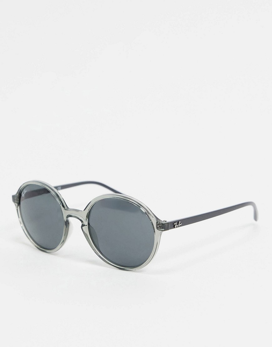 Sunglasses by Ray-Ban Squinting is so last reason Lightweight frames Moulded nose pads for added comfort Dark-tinted lenses Slim arms with curved temple tips for a secure fit Good UV protection Comes in a branded pouch