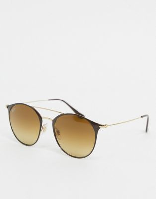 Ray-ban – Runde Sonnenbrille in Gold