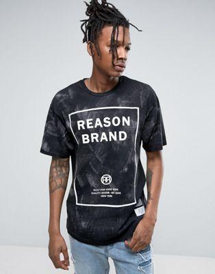 Reason Logo T-Shirt In Acid Wash