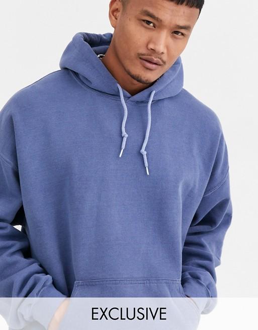 Reclaimed Vintage Inspired - Hoodie oversize surteint - Bleu marine