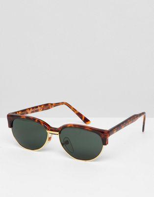 Reclaimed Vintage Inspired - Retro-zonnebril met gevlekt montuur exclusief op ASOS