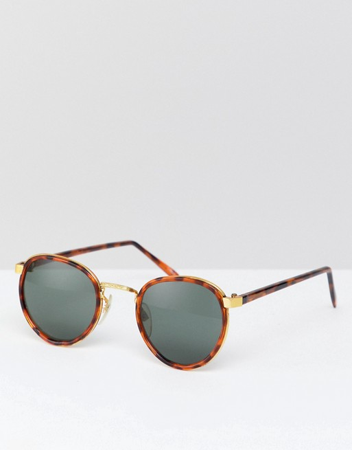 Reclaimed Vintage Sunglasses In Inspired Tort Round To Asos Exclusive drxCoeB