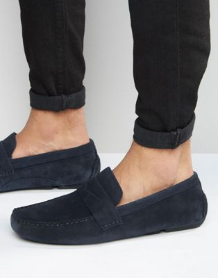Mens Suedette Driver Moccasins New Look