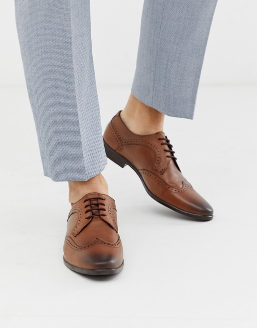 Bild 1 von Redfoot – Hellbraune Derby-Schuhe aus Leder