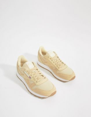 Reebok Classic Leather ESS Sneakers In Yellow BS9722