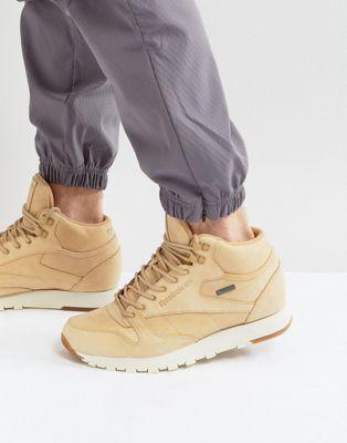 Reebok Classic Leather Mid GTX Sneakers In Tan BS7882