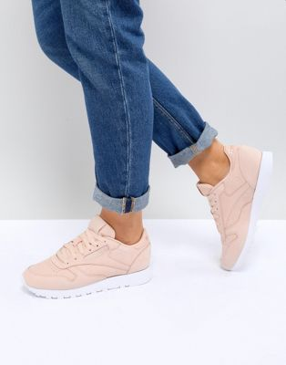 Reebok Classic Nubuck Leather Trainers In Pink