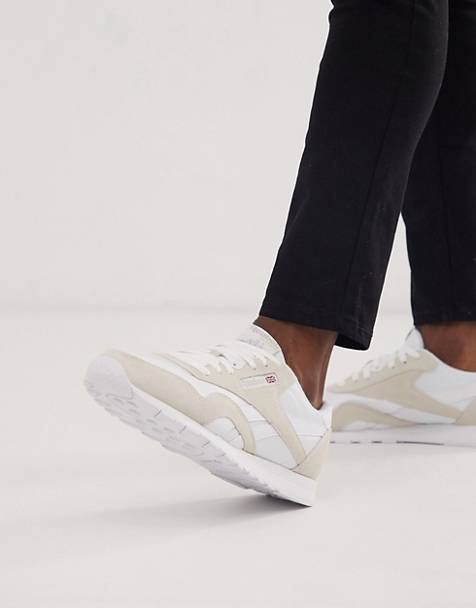 Reebok Classic nylon sneakers in white