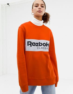 Reebok Classics bright orange logo sweatshirt