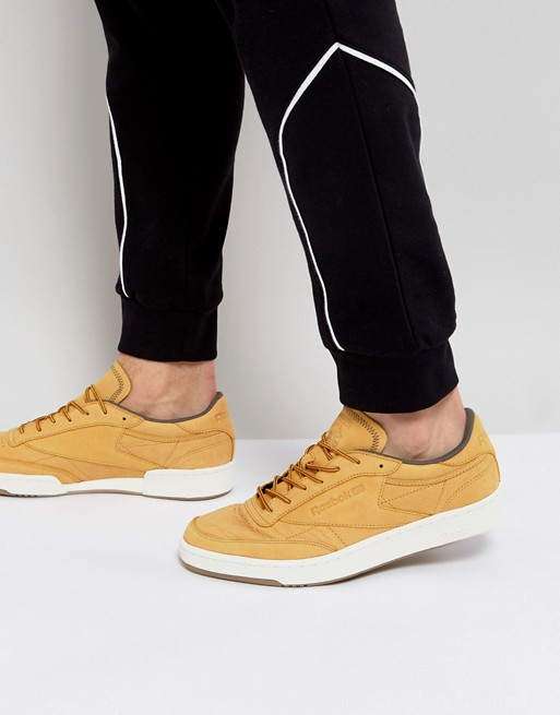 innovative design f15b6 f5565 Reebok Club C 85 WP Sneakers In Tan BS5205   ASOS