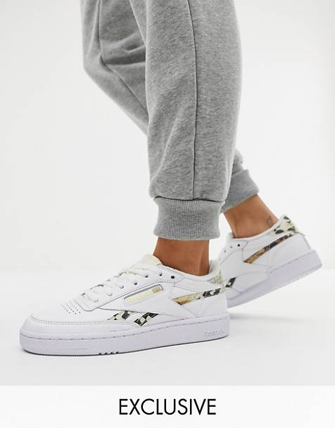 7331a91a5fc Reebok Club C Snakeskin trainers in white exclusive to ASOS