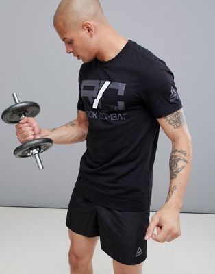 Reebok Combat Logo T-Shirt In Black D95988